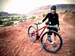Mountain biked in Moab, UT.