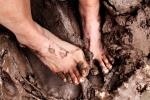 All natural mud baths.