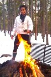 Camped in snowy Colorado