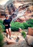 Trail ran in Moab, UT