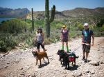 Hiked, CF'd, mtn biked, and swam with @deckerra, @sportybot, and @trirobot in AZ.